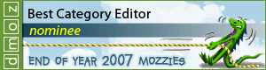 2007 - Best Category Editor Nominee