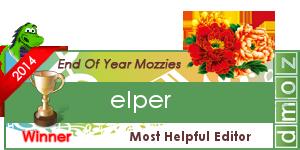 2014 - Most Helpful Editor - Winner