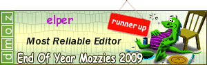 2009 - Most Reliable Editor Runner Up