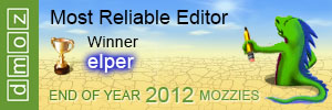 2012 - Most Reliable Editor - At last ;o)